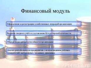Финансовый модуль