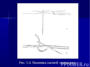 Рис. 5.4. Вышивка пасмой «вприкреп»