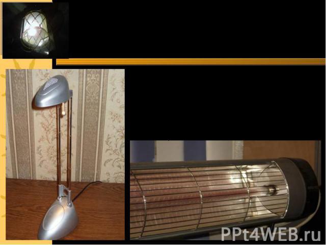 Нельзя представить наш дом без электрической лампочки Излучение, идущее от лампы освещает наш дом. В энергосберегающих лампах излучение возникает за счёт газового разряда, поэтому они нагреваются гораздо меньше, чем лампы накаливания
