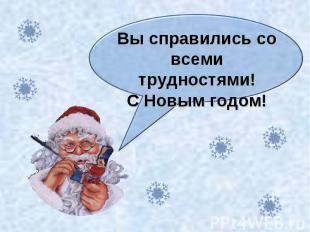 Вы справились со всеми трудностями!С Новым годом!