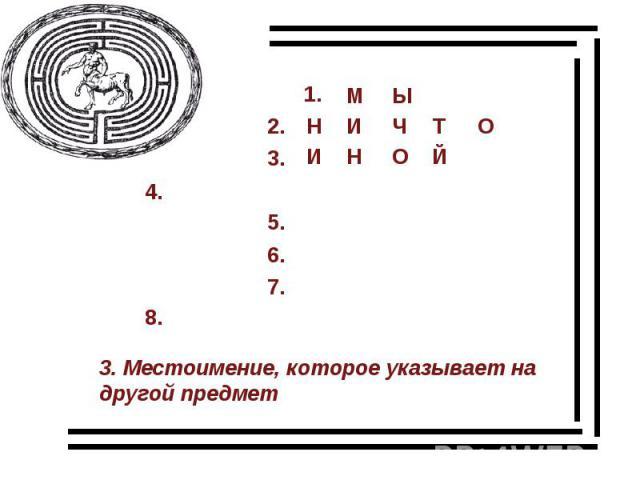3. Местоимение, которое указывает на другой предмет