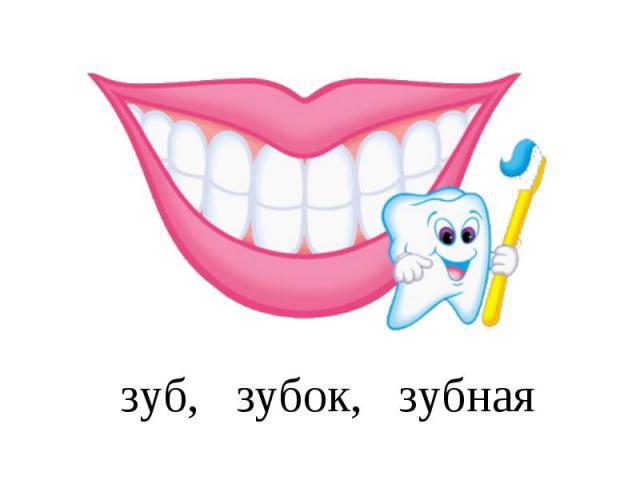 зуб, зубок, зубная