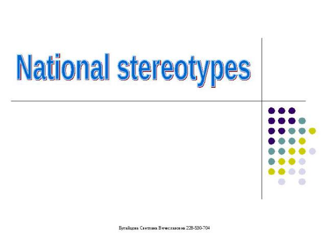 National stereotypes