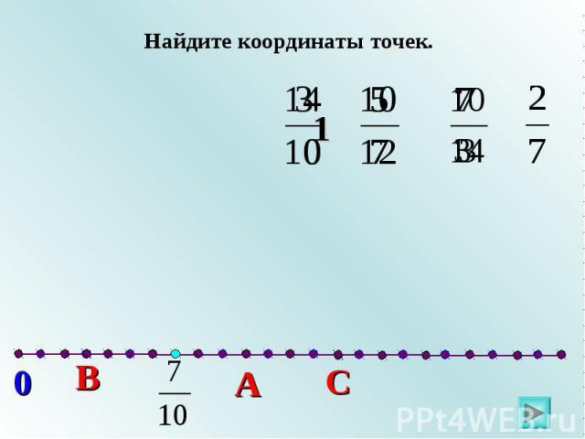 Найдите координаты точек.