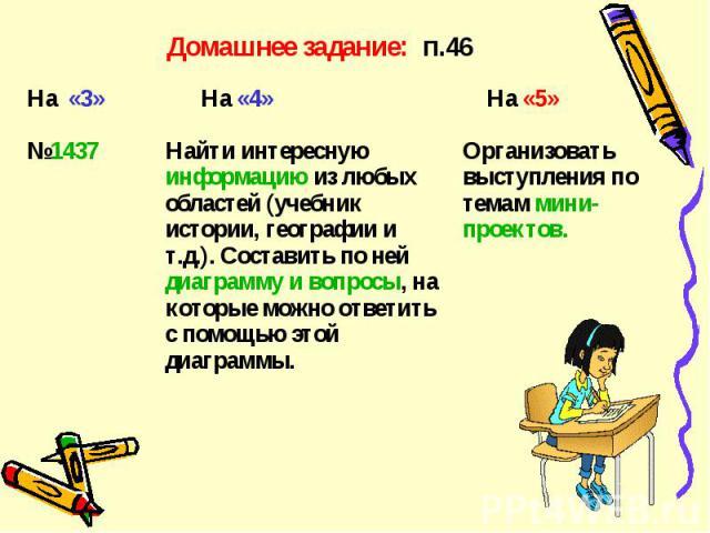 Домашнее задание: п.46