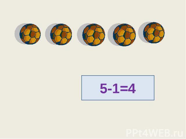 5-1=4