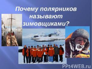 Почему полярников называют зимовщиками?