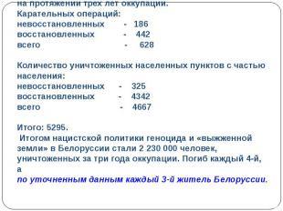 Чудовищные злодеяния творили фашисты вБелоруссии напротяжении трех лет оккупац
