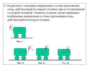3. На рисунке 1 показаны направление и точка приложения силы, действующей на пер