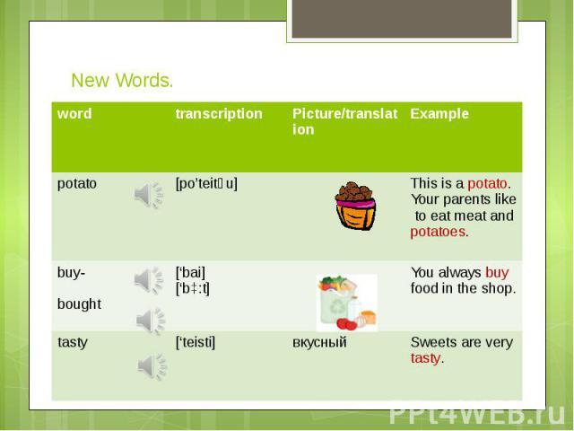 New Words.
