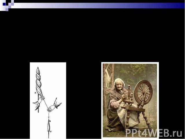 Способы прядения: с использованием веретена с использованием прялки