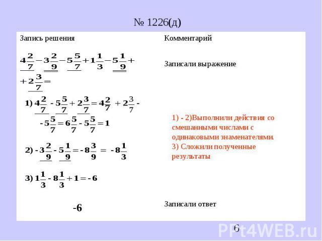 № 1226(д)