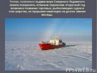 Теперь скованные льдами моря Северного Ледовитого океана покорились атомным ледо