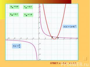 ОТВЕТ: х = 5,9 , х = 4,1