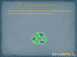 Все использованные материалы изготовлены из экологически чистого сырья, не содер