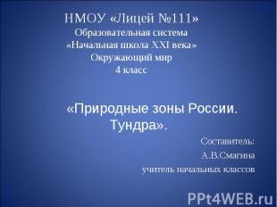 НМОУ «Лицей №111»Образовательная система«Начальная школа XXI века»Окружающий мир