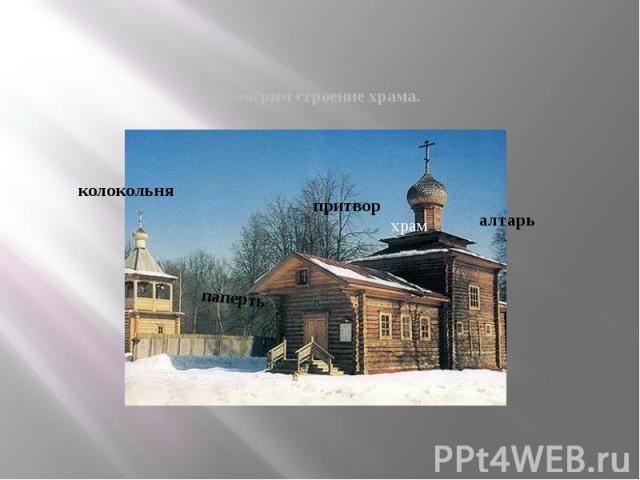 Смотрим строение храма.