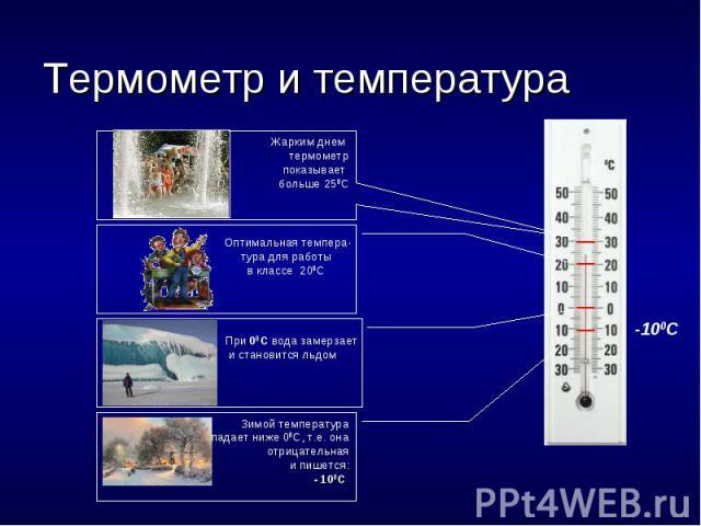Термометр и температура