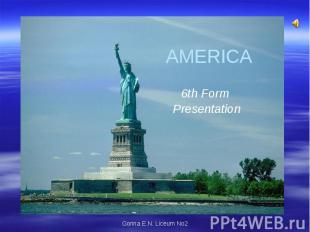 America 6th Form Presentation