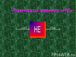 Логический элемент «НЕ»