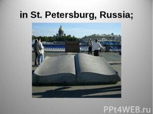 in St. Petersburg, Russia;
