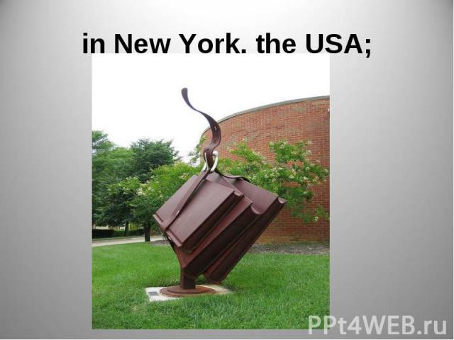in New York, the USA;