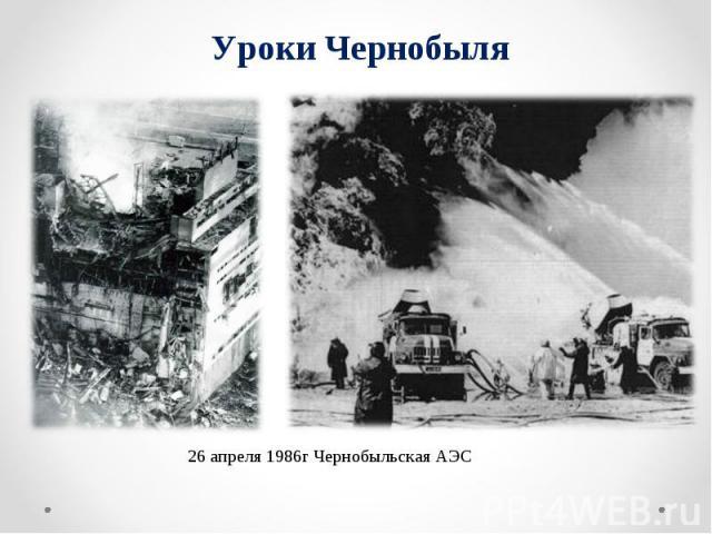 Уроки Чернобыля 26 апреля 1986г Чернобыльская АЭС
