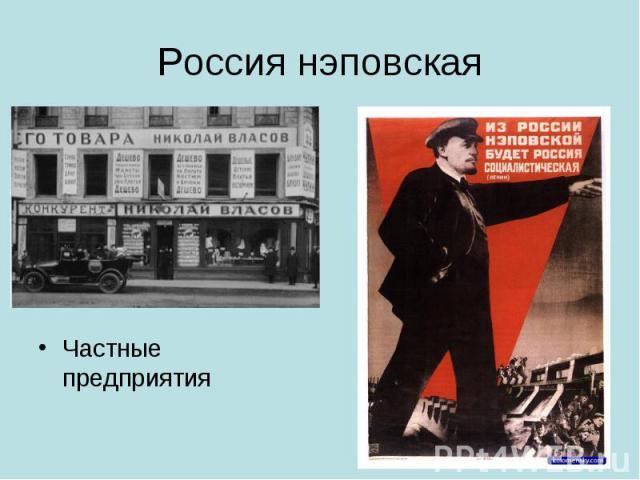 Россия нэповскаяЧастные предприятия