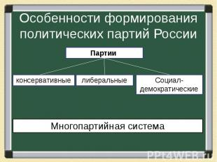 Особенности формирования политических партий России
