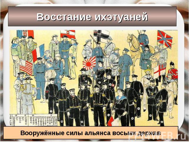 Восстание ихэтуаней Вооружённые силы альянса восьми держав