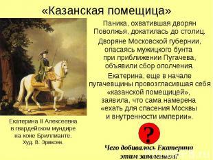 «Казанская помещица» Паника, охватившая дворян Поволжья, докатилась до столиц.Дв