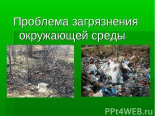 Проблема загрязнения окружающей среды