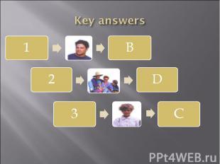 Key answers