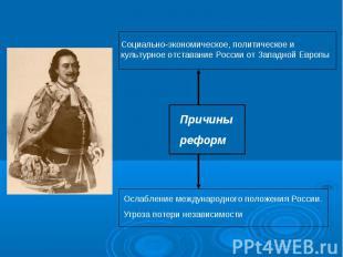 Социально-экономическое, политическое и культурное отставание России от Западной
