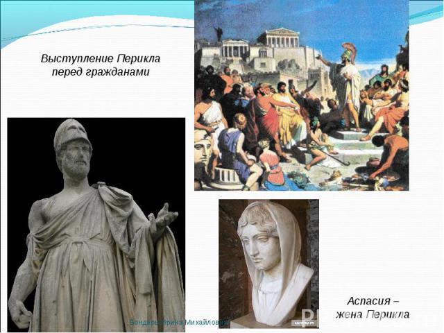 Выступление Перикла перед гражданами Аспасия – жена Перикла