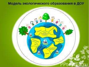 Модель экологического образования на ДОУ