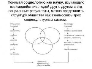 Понимая социологию как науку, изучающую взаимодействие людей друг с другом и его