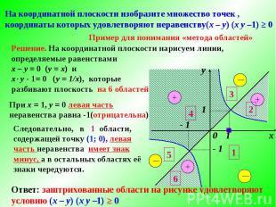 Решение. На координатной плоскости нарисуем линии, определяемые равенствами х –