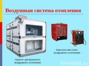 Воздушная система отопления Агрегат центрального воздушного отопления Агрегаты м