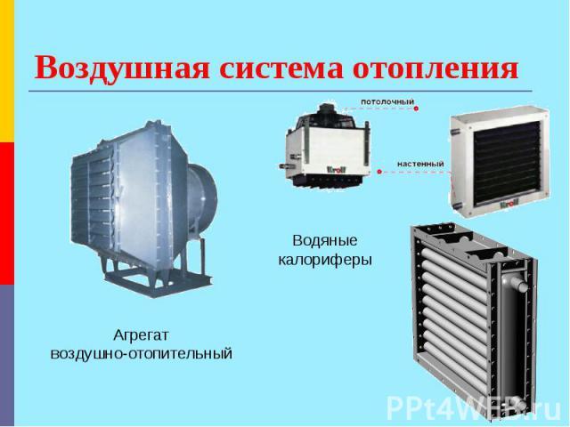 Агрегаты для систем воздушного отопления