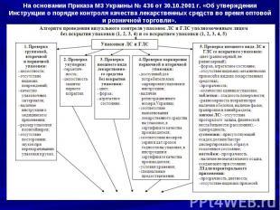 На основании Приказа МЗ Украины № 436 от 30.10.2001 г. «Об утверждении Инструкци