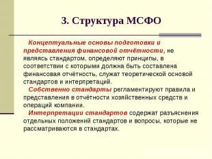 3. Структура МСФО Концептуальные основы подготовки и представления финансовой от
