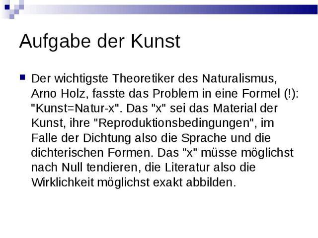 Geschichtlicher hintergrund naturalismus