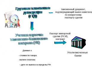 таможенный документ, подтверждающий вывоз капитала по конкретному паспорту сделк