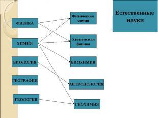 ФИЗИКА ХИМИЯ БИОЛОГИЯ ГЕОЛОГИЯ АНТРОПОЛОГИЯ ГЕОХИМИЯ Физическая химия Химическая