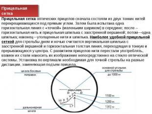 Прицельная сетка Прицельная сетка оптических прицелов сначала состояли из двух т