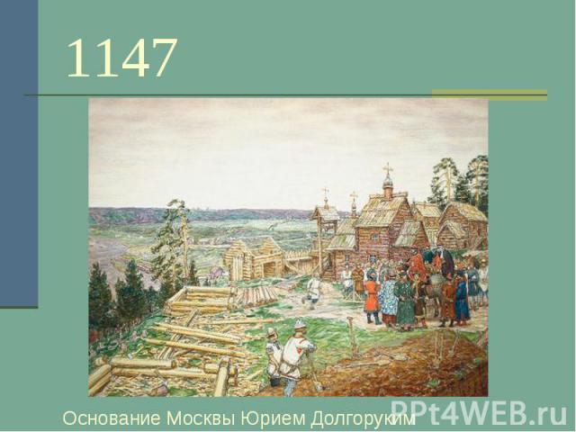 1147 Основание Москвы Юрием Долгоруким