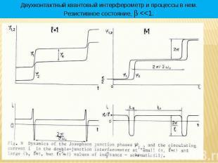 * Двухконтактный квантовый интерферометр и процессы в нем. Резистивное состояние