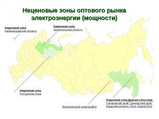 * Неценовые зоны оптового рынка электроэнергии (мощности) Внезональный энергорай