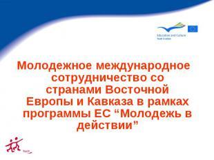 Молодежное международное сотрудничество со странами Восточной Европы и Кавказа в